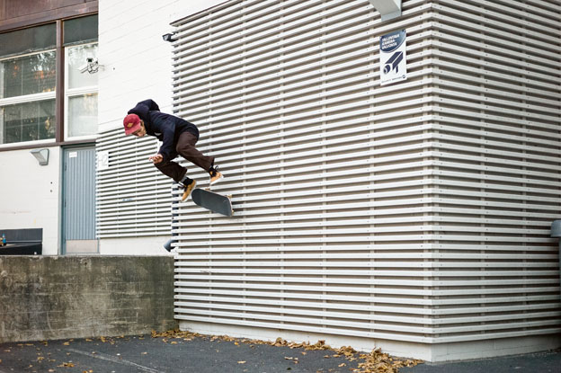Janne, Huotari, flip wallride. Photo: Vesa Ritola
