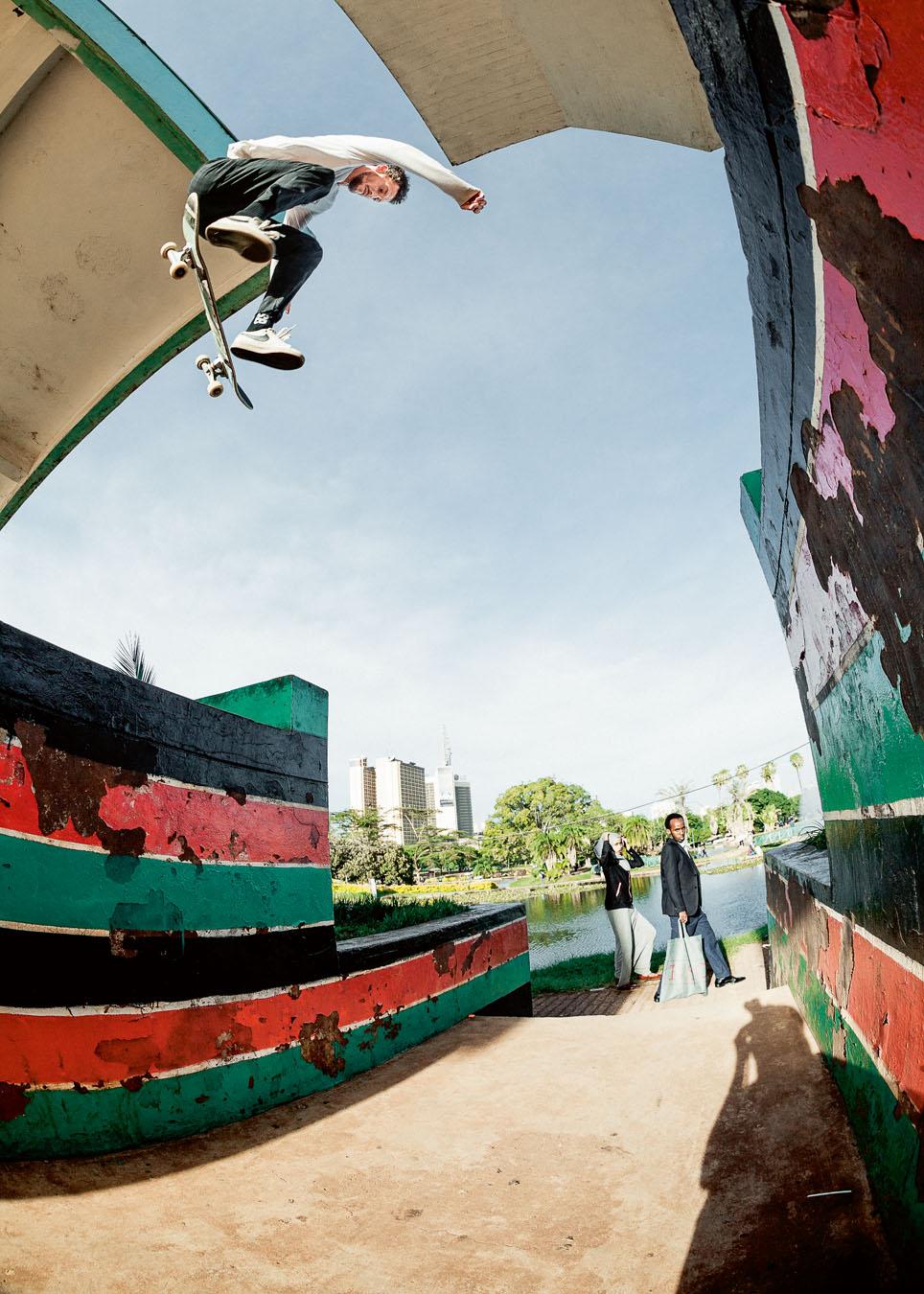 Michi backside flip Nairobi